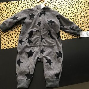 Baby zip up romper